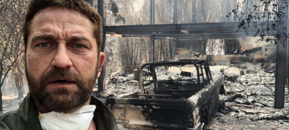 Филмовата звезда Джерард Бътлър е един от потърпевшите от пожарите